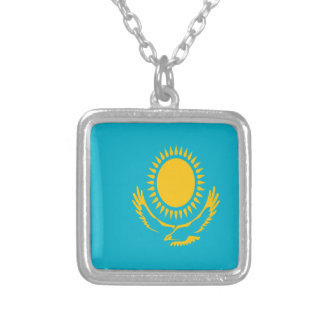 Niedrige Kosten! Kasachstan-Flagge Versilberte Kette
