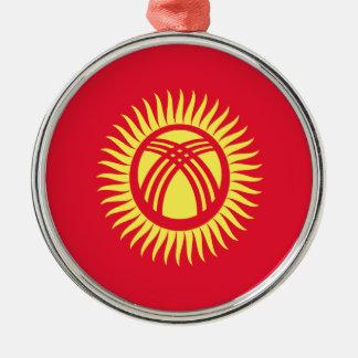 Niedrige Kosten! Kirgisistan-Flagge Silbernes Ornament