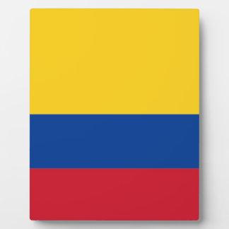 Niedrige Kosten! Kolumbien-Flagge Fotoplatte