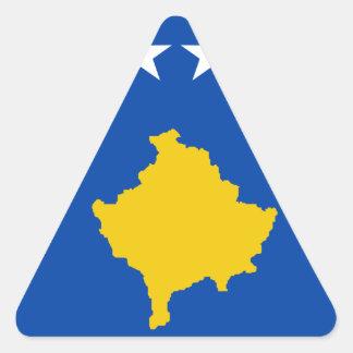 Niedrige Kosten! Kosovo-Flagge Dreieckiger Aufkleber