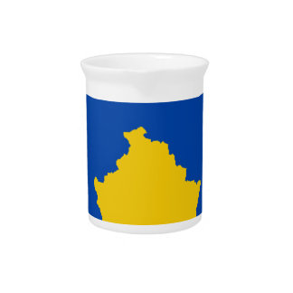 Niedrige Kosten! Kosovo-Flagge Getränke Pitcher