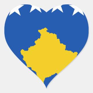 Niedrige Kosten! Kosovo-Flagge Herz-Aufkleber