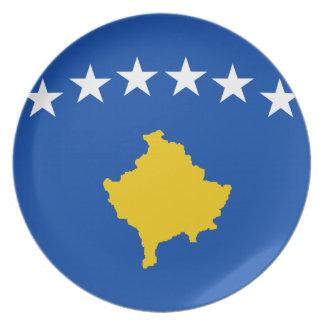 Niedrige Kosten! Kosovo-Flagge Melaminteller
