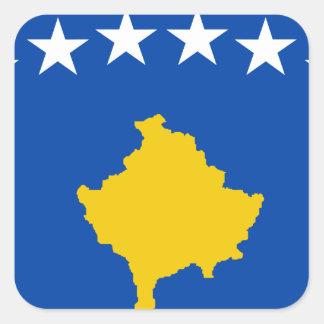Niedrige Kosten! Kosovo-Flagge Quadratischer Aufkleber