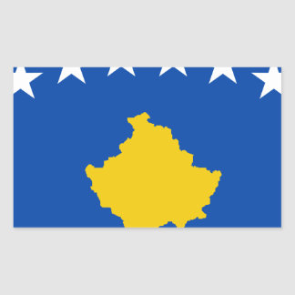 Niedrige Kosten! Kosovo-Flagge Rechteckiger Aufkleber