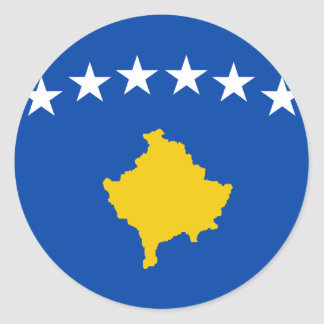 Niedrige Kosten! Kosovo-Flagge Runder Aufkleber
