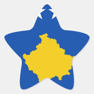 Niedrige Kosten! Kosovo-Flagge Stern-Aufkleber