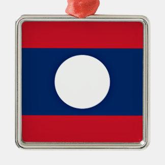 Niedrige Kosten! Laos-Flagge Silbernes Ornament