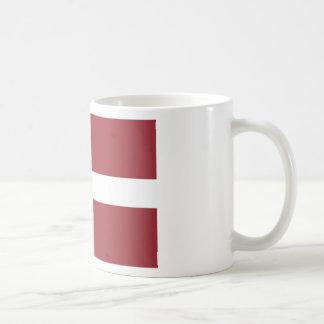 Niedrige Kosten! Lettland-Flagge Kaffeetasse