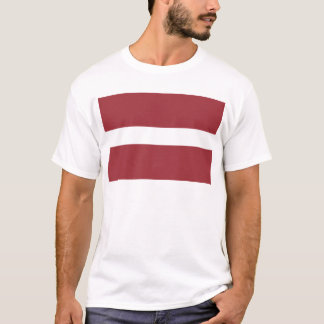 Niedrige Kosten! Lettland-Flagge T-Shirt