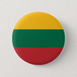 Niedrige Kosten! Litauen-Flagge Runder Button 5,7 Cm