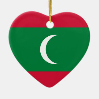 Niedrige Kosten! Malediven-Flagge Keramik Ornament