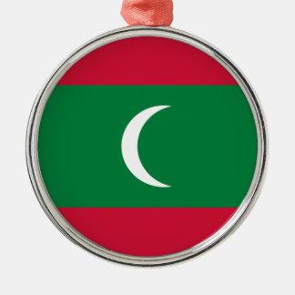 Niedrige Kosten! Malediven-Flagge Silbernes Ornament