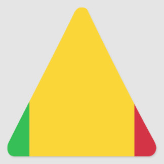Niedrige Kosten! Mali-Flagge Dreieckiger Aufkleber