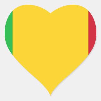 Niedrige Kosten! Mali-Flagge Herz-Aufkleber