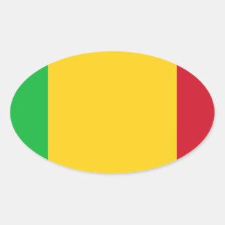 Niedrige Kosten! Mali-Flagge Ovaler Aufkleber