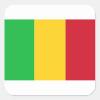 Niedrige Kosten! Mali-Flagge Quadratischer Aufkleber