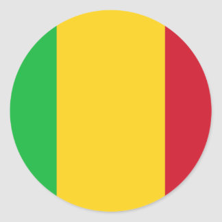 Niedrige Kosten! Mali-Flagge Runder Aufkleber