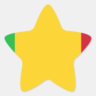 Niedrige Kosten! Mali-Flagge Stern-Aufkleber