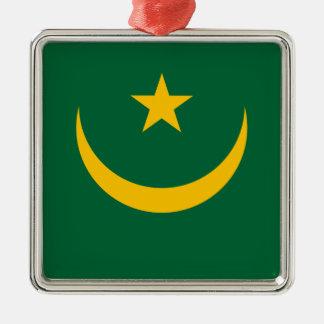 Niedrige Kosten! Mauretanien-Flagge Silbernes Ornament