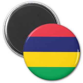 Niedrige Kosten! Mauritius-Flagge Runder Magnet 5,7 Cm