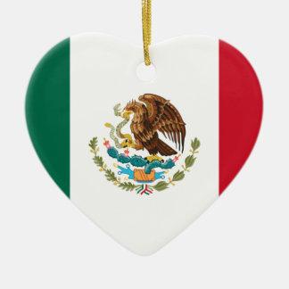 Niedrige Kosten! Mexiko-Flagge Keramik Herz-Ornament