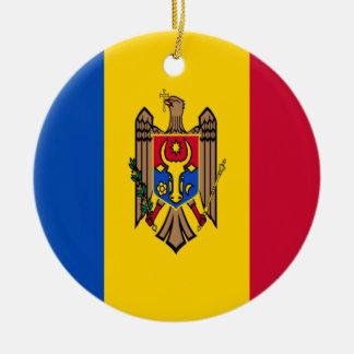 Niedrige Kosten! Moldau-Flagge Rundes Keramik Ornament