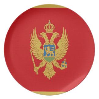 Niedrige Kosten! Montenegro-Flagge Teller