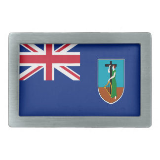 Niedrige Kosten! Montserrat-Flagge Rechteckige Gürtelschnalle