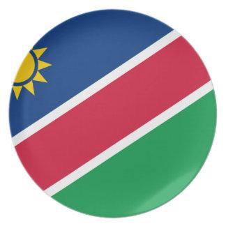 Niedrige Kosten! Namibia-Flagge Melaminteller