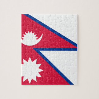 Niedrige Kosten! Nepal-Flagge Puzzle