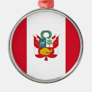 Niedrige Kosten! Peru-Flagge Silbernes Ornament