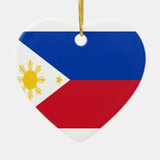 Niedrige Kosten! Philippinen-Flagge Keramik Herz-Ornament
