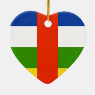 Niedrige Kosten! Republik- Zentralafrikaflagge Keramik Herz-Ornament