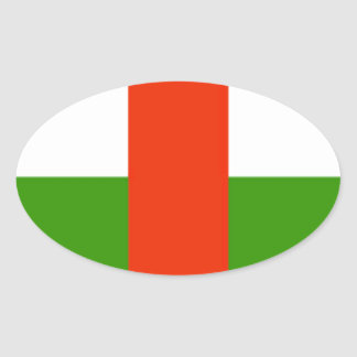 Niedrige Kosten! Republik- Zentralafrikaflagge Ovaler Aufkleber