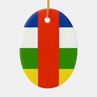 Niedrige Kosten! Republik- Zentralafrikaflagge Ovales Keramik Ornament