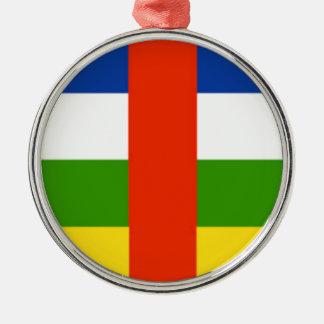 Niedrige Kosten! Republik- Zentralafrikaflagge Rundes Silberfarbenes Ornament