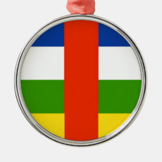 Niedrige Kosten! Republik- Zentralafrikaflagge Silbernes Ornament