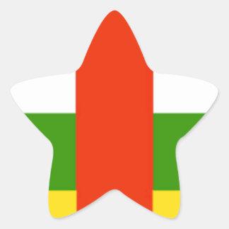 Niedrige Kosten! Republik- Zentralafrikaflagge Stern-Aufkleber