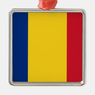 Niedrige Kosten! Rumänien-Flagge Silbernes Ornament