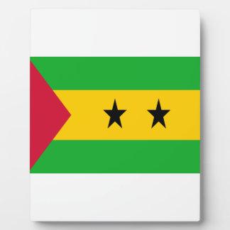 Niedrige Kosten! São Tomé und Príncipe-Flagge Fotoplatte