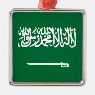Niedrige Kosten! Saudi-Arabien Flagge Silbernes Ornament