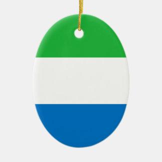 Niedrige Kosten! Sierra Leone-Flagge Keramik Ornament