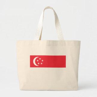 Niedrige Kosten! Singapur-Flagge Jumbo Stoffbeutel