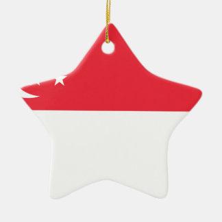 Niedrige Kosten! Singapur-Flagge Keramik Ornament