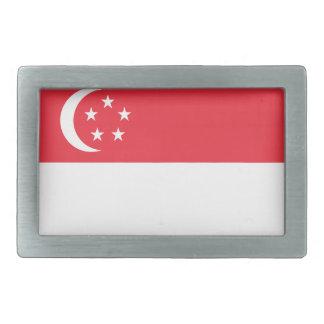 Niedrige Kosten! Singapur-Flagge Rechteckige Gürtelschnallen