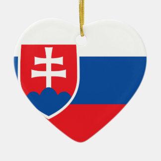 Niedrige Kosten! Slowakei-Flagge Keramik Herz-Ornament