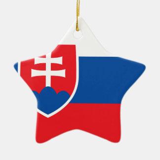 Niedrige Kosten! Slowakei-Flagge Keramik Stern-Ornament