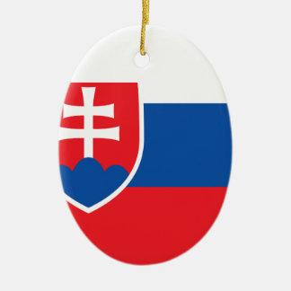 Niedrige Kosten! Slowakei-Flagge Ovales Keramik Ornament