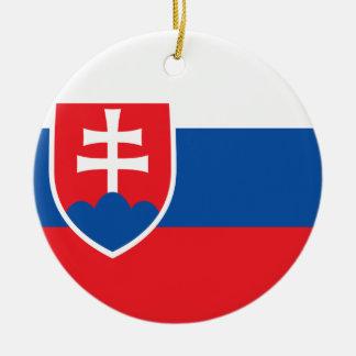 Niedrige Kosten! Slowakei-Flagge Rundes Keramik Ornament